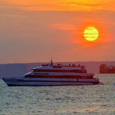 Sea Streak Ferry during Sunset