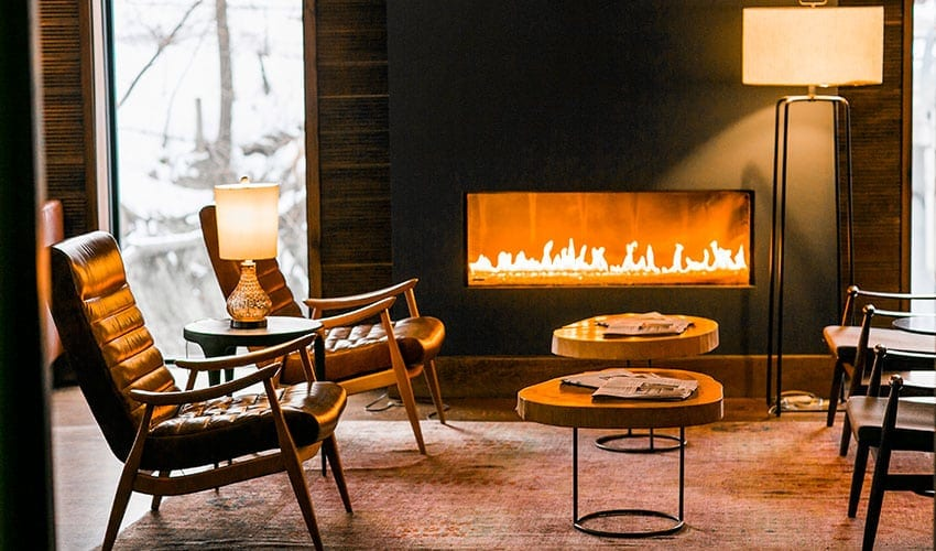 Fire Place at Roundhouse Hotel Beacon, NY pic