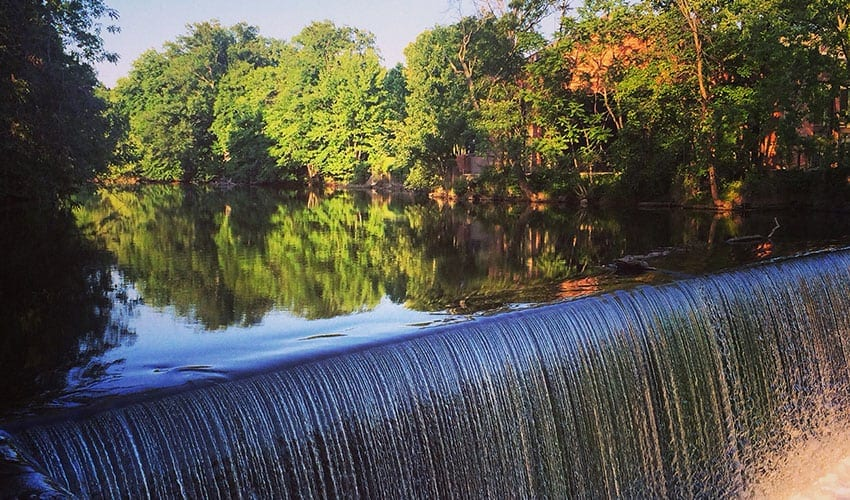 Waterfall at Roundhouse Hotel Beacon, NY pic