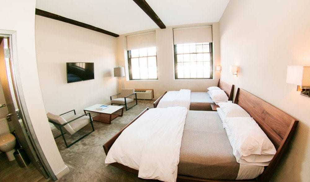 Double Bed Room at Roundhouse Hotel Beacon, NY pic