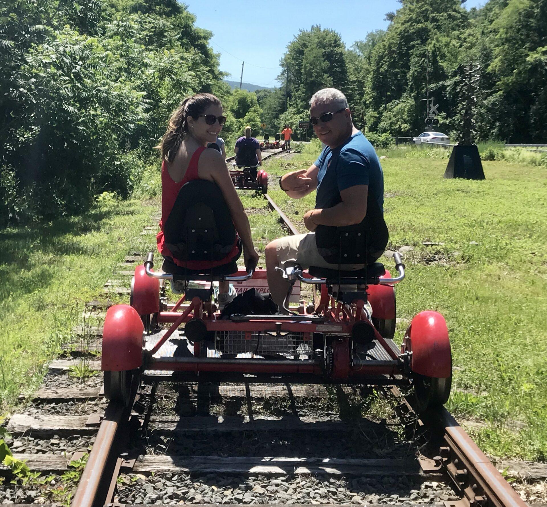 Rail Biking- Couples picture