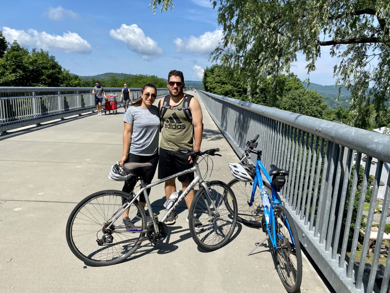 Biking on the Walkway Over the Hudson