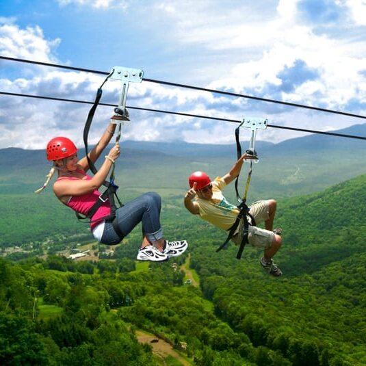 Ziplining at Hunter Mountain, NY
